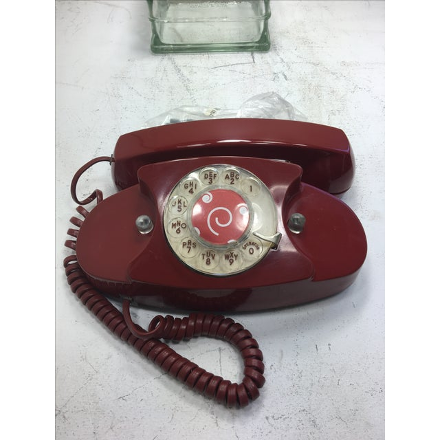 Vintage Red Princess Rotary Dial Telephone - Image 10 of 11