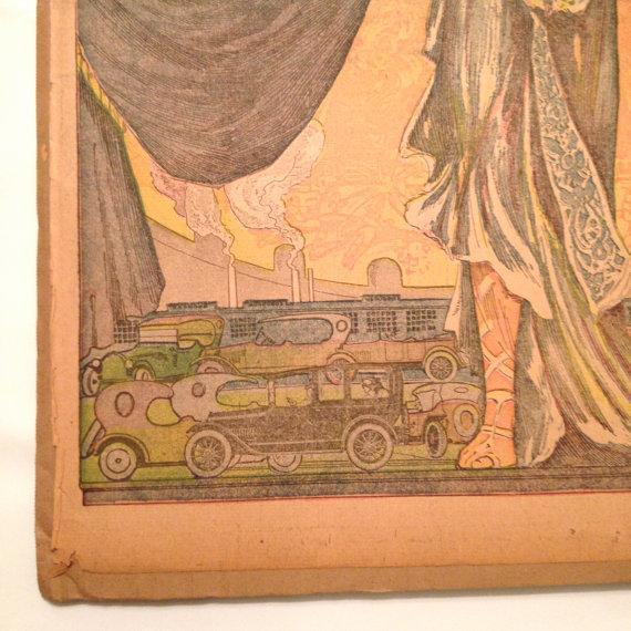 Antique San Francisco Examiner Auto Show Print - Image 5 of 6