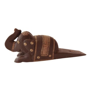 Vintage Elephant Wooden Door Stopper