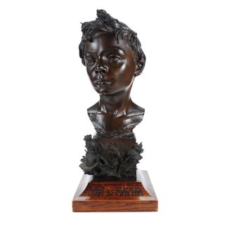 Vincenzo Rosignoli Patinated Bronze Boy Bust