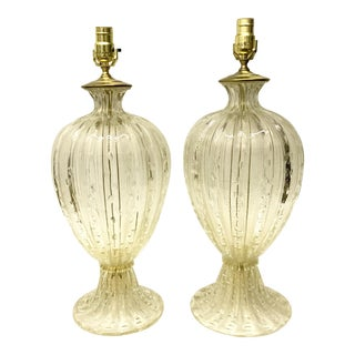 Barovier & Toso Murano Glass Table Lamps - A Pair