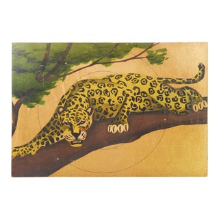 Vintage Leopard Print on Board