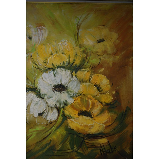 Mid Century Hollywood Regency Poppy Painting - Image 3 of 9