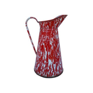 1920's French Enamel Pitcher