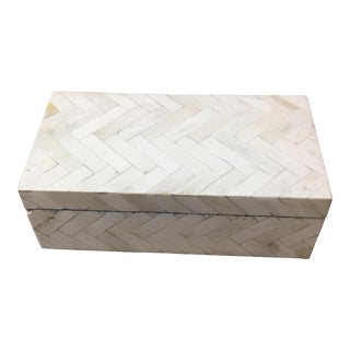 Herringbone Pattern Bone Covered Box