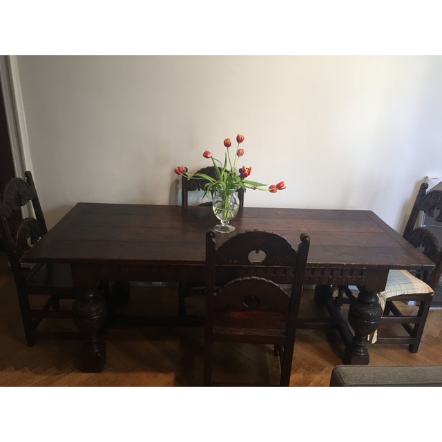 Antique Tudor Table - Image 7 of 9