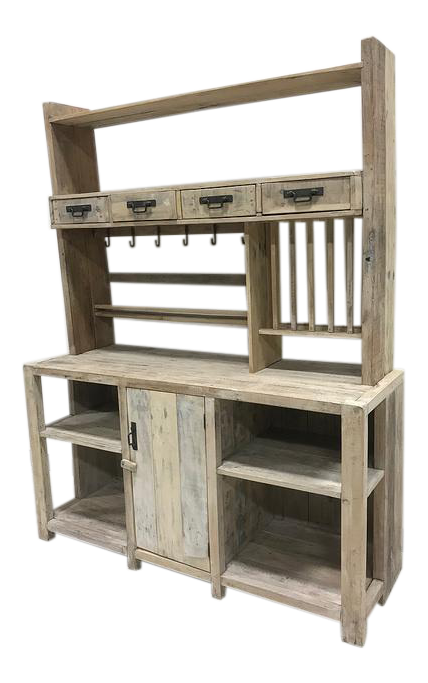 rustic kitchen cabinets pictures white washed barn wood style hutch cabinet chairish 25761