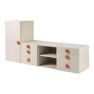 "Set of 4 ""Kubirolo"" Shelving System by Sottsass for Poltronova"