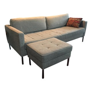 Blu Dot Paramount Tufted Sofa & Ottoman