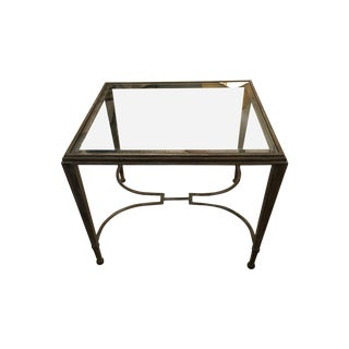 Artistica Home Sangioves Steel & Glass Side Table