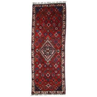 1970s Handmade Vintage Persian Sarouk Rug - 1′10″ × 5′2″