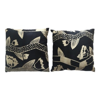 Flowered Sofa Pillows - A Pair