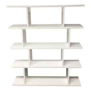 CB2 White Lacquered Book/Display Shelf