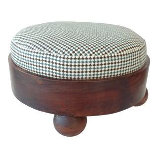Vintage Small Round Footstool