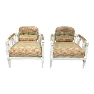 Pair of Art Deco Style Accent Chairs