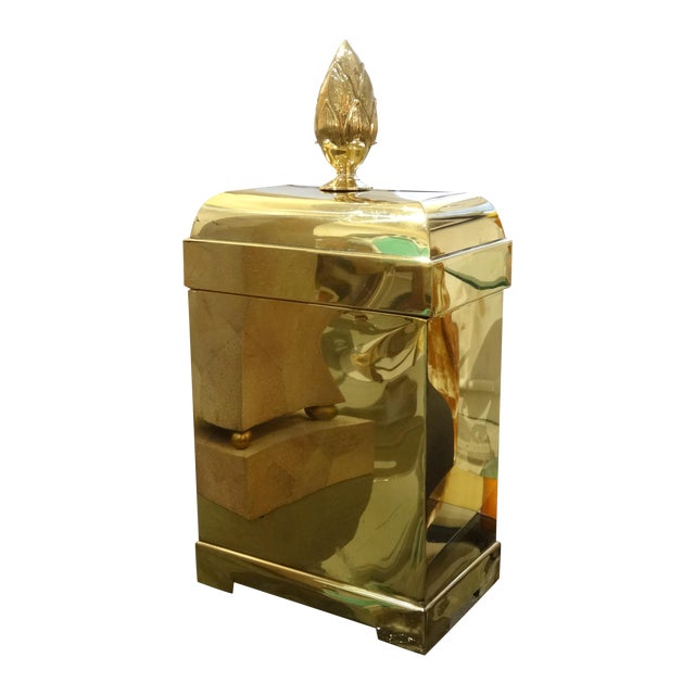 Lidded Brass Box by Maitland Smith - Image 1 of 5