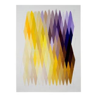 Geometric Contemporary Purple & Yellow Original Painting