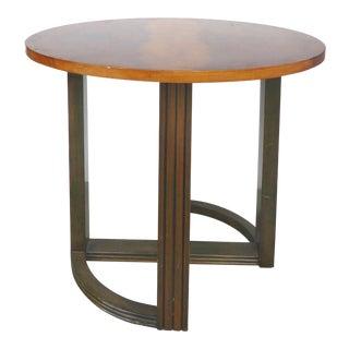 1930s Vintage Donald Deskey Figured Walnut Table