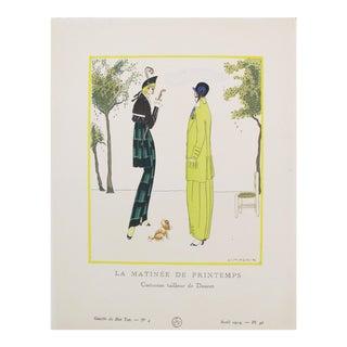 1914 Gazette du Bon Ton Doucet Fashion Plate, Matinee du Printemps
