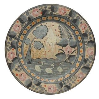 Large Vintage Mexican Pottery Tlaquepaque Plate