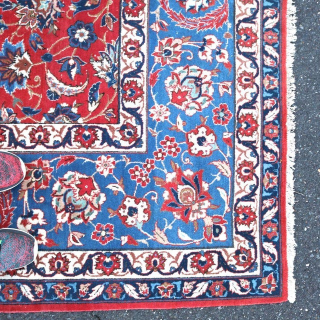 Vintage Persian Antique Handmade Rug 10x13 - Image 9 of 11