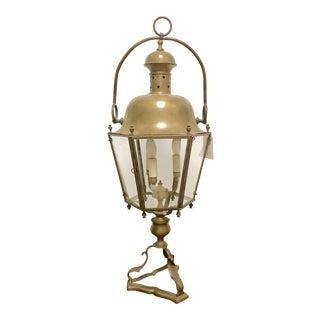 Antique Converted Bronze Street Lantern / Lamp