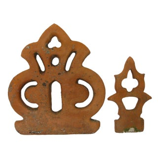 Antique French Terra Cotta Architectural Pieces - Set of 2
