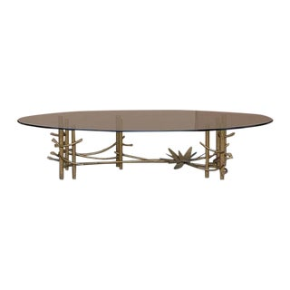 Silas Seandel Style Gilt-Metal Table W/ Oval Top
