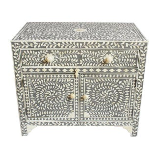 Grey Inlay Side Cabinet