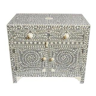 Grey Inlay Side Cabinet