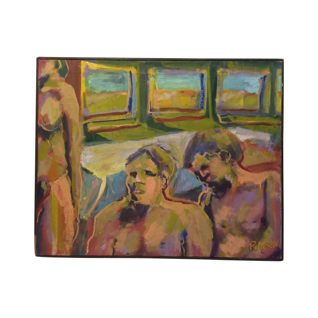 """One and Two,"" Oil Painting Circa 1966 - Image 1 of 7"