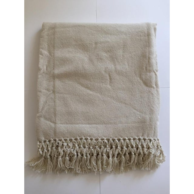 Natural Merino Wool Drapes/Bed Covers – A Pair - Image 2 of 7