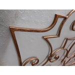 Image of Salvadori Italian Gilt Metal Twin Headboard - Pair