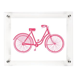 Mitchell Black Home Acrylic Framed 'Hers' Bicycle Print