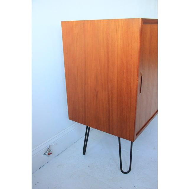 Image of Vintage Teak Credenza With Sliding Doors