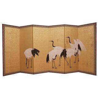 Japanese crane screen