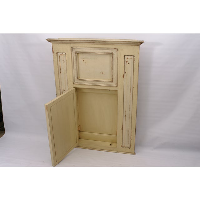 Image of Vintage Architectural Piece with Mirrored Cabinet