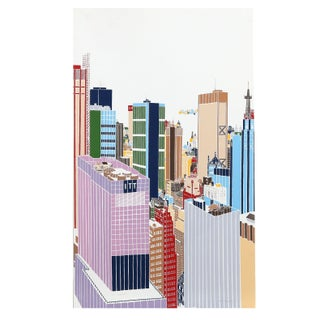 Mori Shizume - New York Skyline 6 Silkscreen