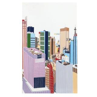 Mori Shizume - New York Skyline 6 Silkscreen