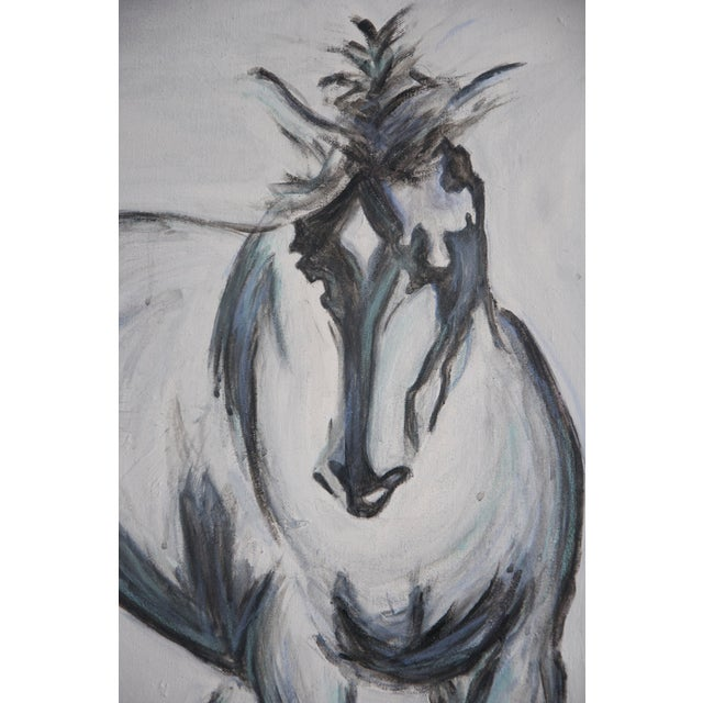Pete V Large Horse Painting Equine Abstract - Image 3 of 4