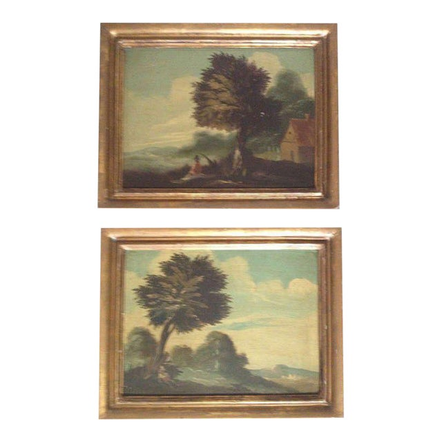 Pair of 19th Century Italian Landscapes - Image 1 of 9