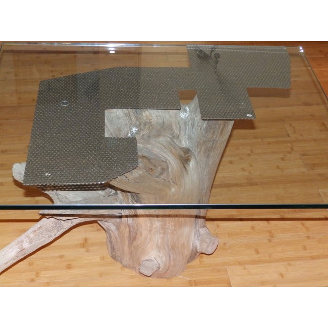 Verina Baxter Cedar Wood and Glass Coffee Table - Image 5 of 7