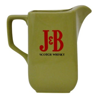 Vintage J&B Scotch Whiskey Pitcher