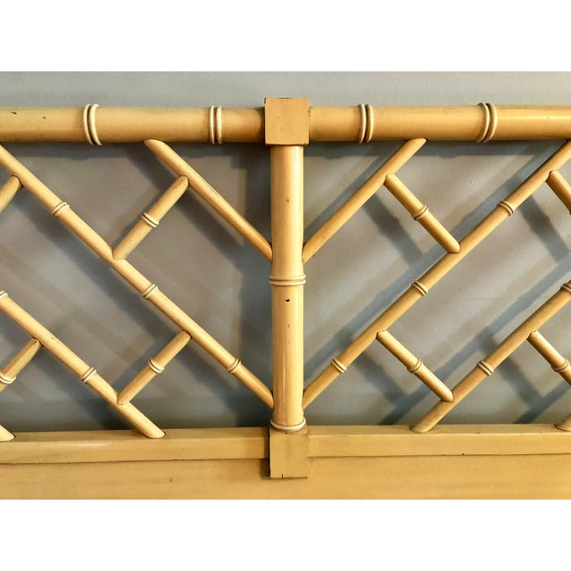 Henry Link Chippendale Yellow Bamboo King Size Headboard - Image 5 of 7