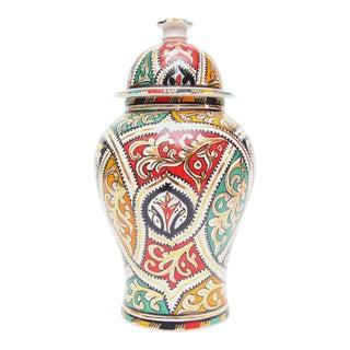 Moroccan Multicolor Ceramic Jar