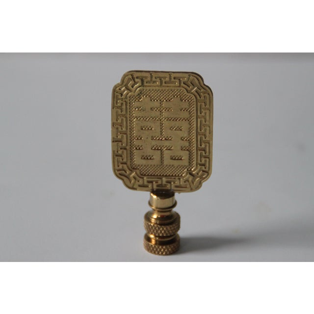 Image of Asian Style Brass Lamp Finials - A Pair