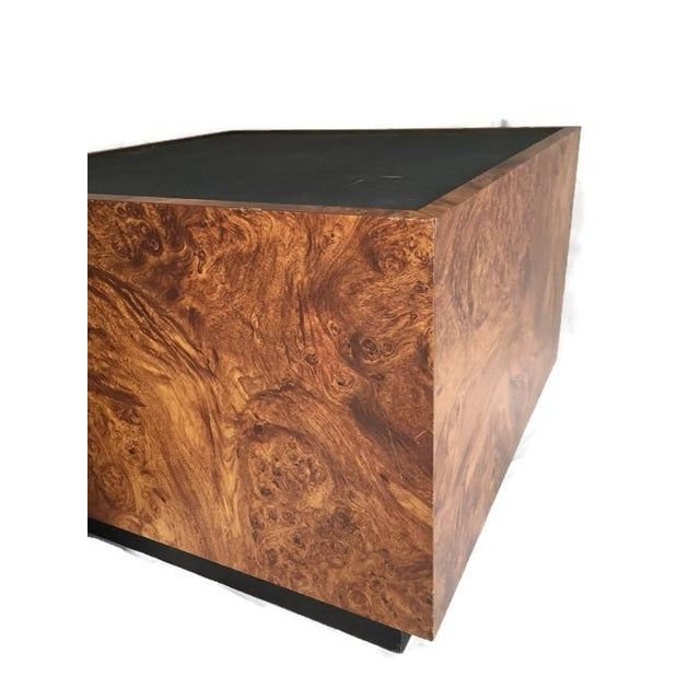 Vintage Burl Wood Cube Tables - A Pair - Image 6 of 10