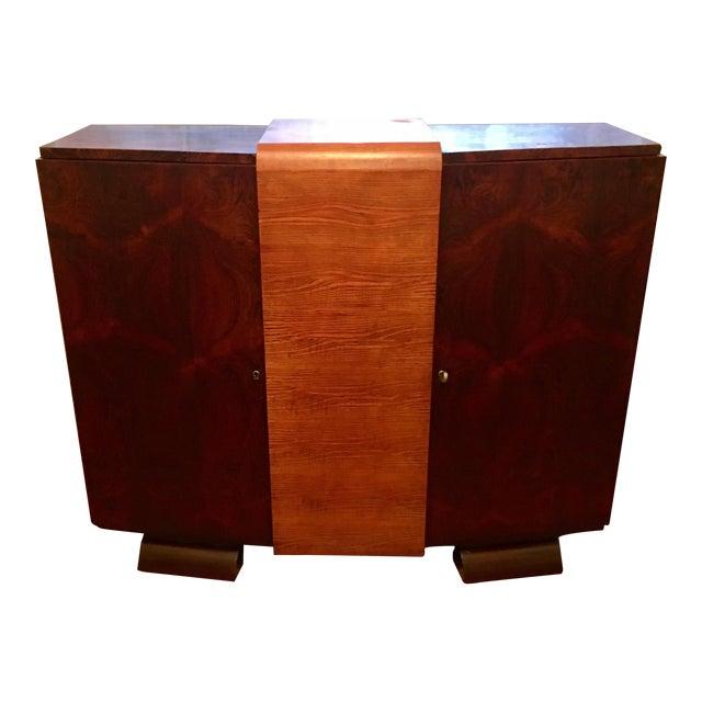 1930s Modernist Art Deco Rosewood Bar Cabinet - Image 1 of 10
