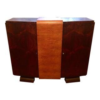 1930s Modernist Art Deco Rosewood Bar Cabinet