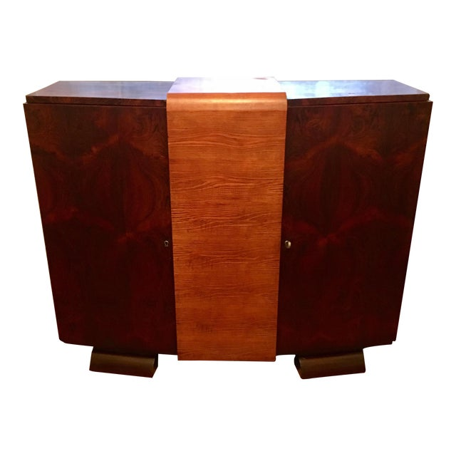 Image of 1930s Modernist Art Deco Rosewood Bar Cabinet